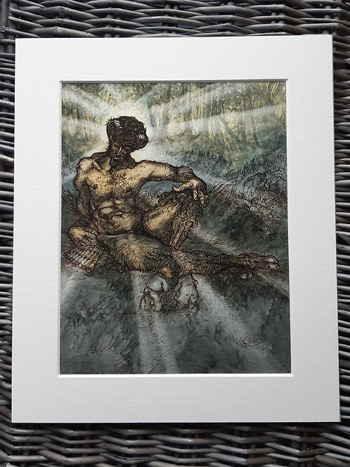 Wind in the Willows 'Pan, The Piper At The Gates Of Dawn' Mounted Fine Art Print