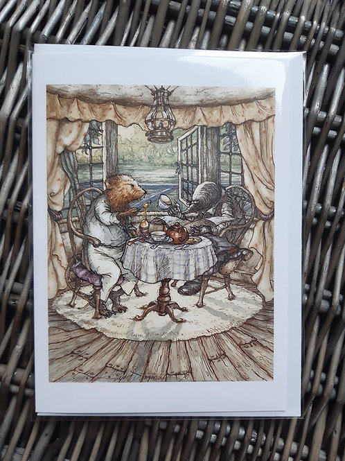 """Wind in the Willows 'All Over Egg' Greeting, Birthday Card 5"""" x 7"""""""