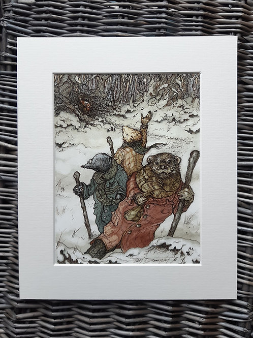 Wind in the Willows 'On The Edge Of The Wild Wood' Mounted Fine Art Print