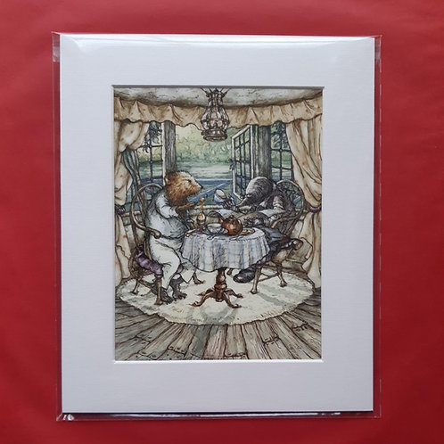Wind in the Willows 'All Over Egg' Mounted Fine Art Print