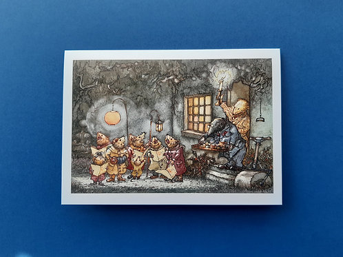 """Wind in the Willows 'Lets Have A Look At…' Christmas Card 5"""" x 7"""""""