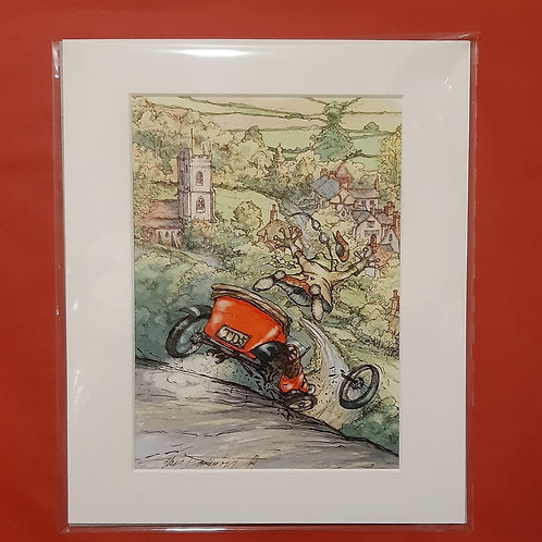 Wind in the Willows 'Terror Of The Highway' Mounted Fine Art  Print