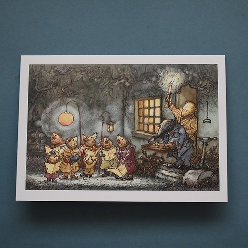 Wind in the Willows Christmas Cards Pack of 4, 2 Designs