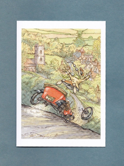 """Wind in the Willows 'Terror Of The Highway' Greeting/ Birthday Card 5"""" x 7"""""""