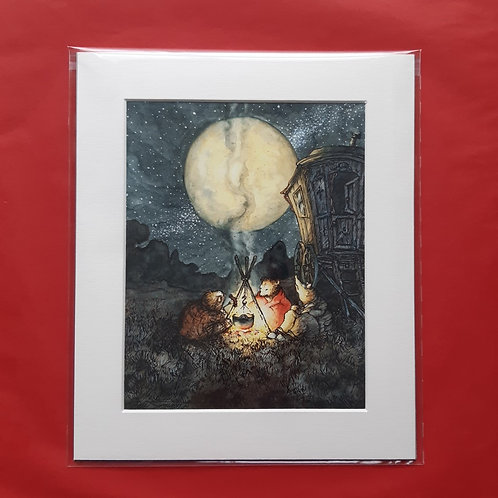 Wind in the Willows 'Ate Their Simple Supper' Mounted Fine Art Print
