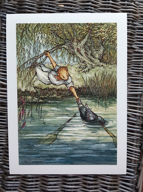 Wind in the Willows 'O How Very Wet' Fine Art Print