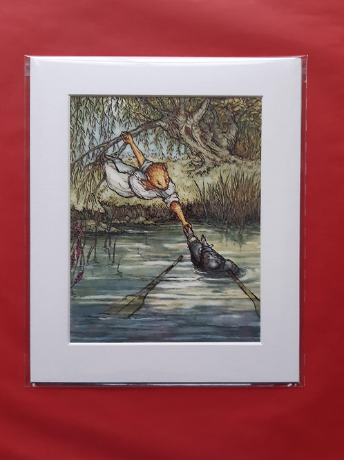 Wind in the Willows 'O How Very Wet' Mounted Fine Art Print