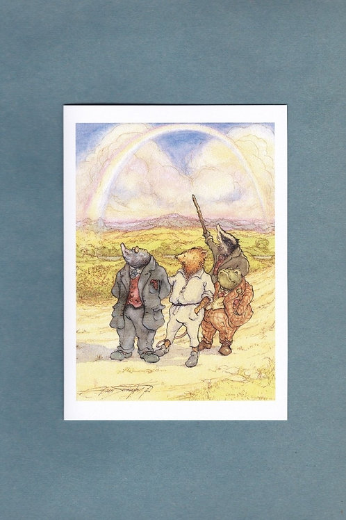 """Wind in the Willows 'Long Summer Evening Stroll' Greeting/ Birthday Card 5"""" x 7"""""""