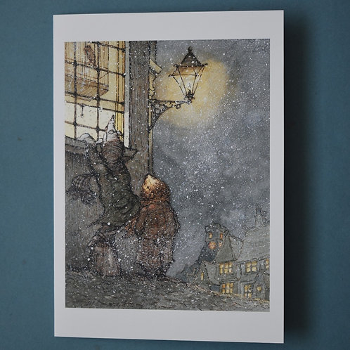 """Wind in the Willows 'Dulce Domum' Christmas Card 7""""x 5"""""""