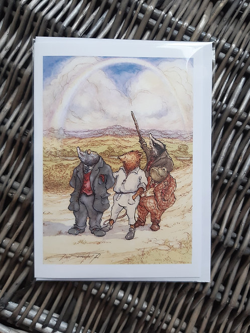 """Wind in the Willows 'Long Summer Evening Stroll' Greeting, Birthday Card 5"""" x 7"""""""