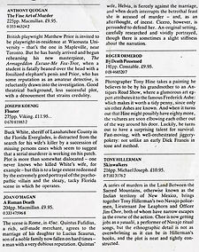 The Times Literary Supplement, London, Dec. 1988