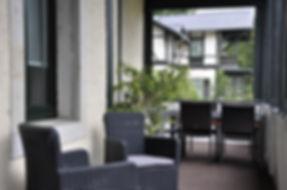 Lounge-Ecke auf der Veranda