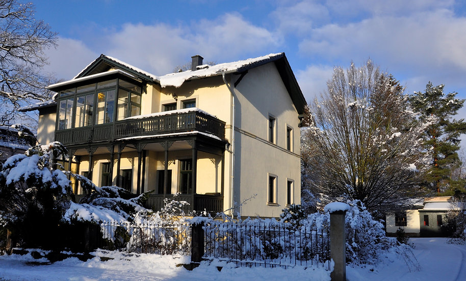 Villa Reger in Winter