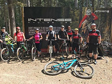 Sherwood Pines Cycing Club members after a club ride
