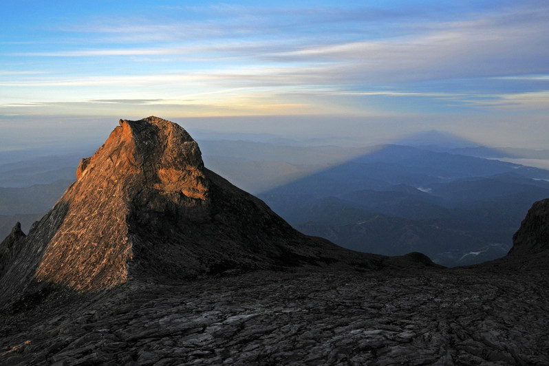 Sunset on Kinabalu Mount