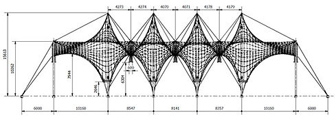 Tensile structure drawings
