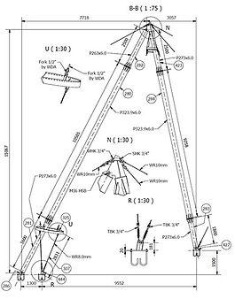 Steel detailing drawings