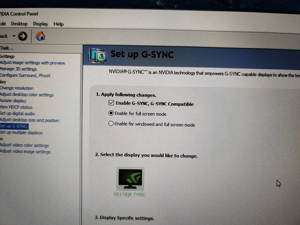 G Story Enable G Sync