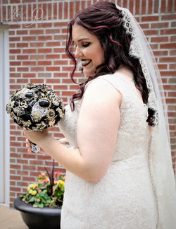 Real bride with custom bouquet