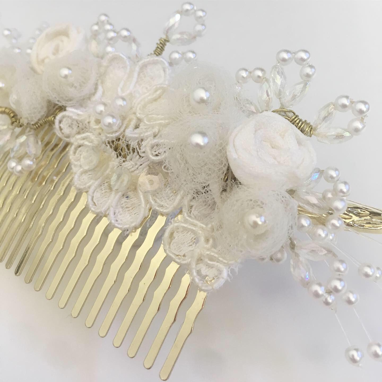A handmade bridal comb