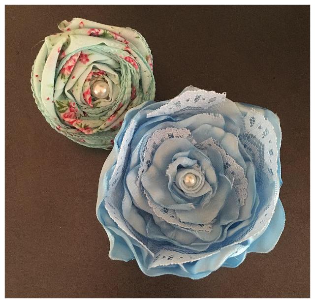 Handmade peony and rosette