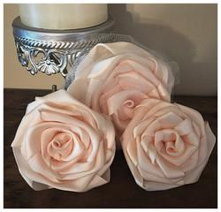 Cluster of handmade roses