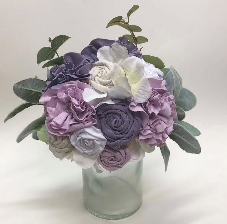 Purple memorial centerpiece
