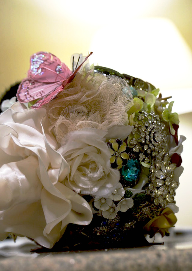 Underportion of a Vintage bouquet