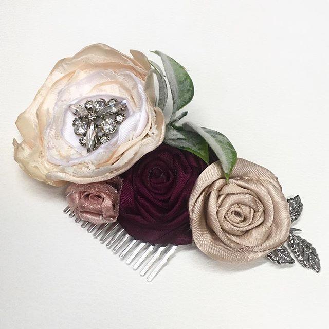 Custom floral comb
