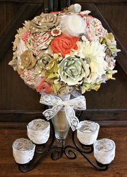 Rustic bouquet as a centerpiece