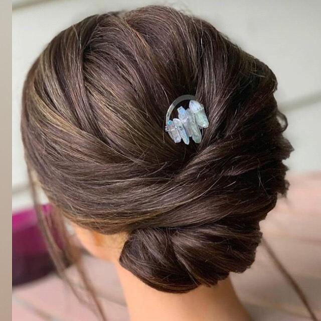 Crystal quartz hairpin