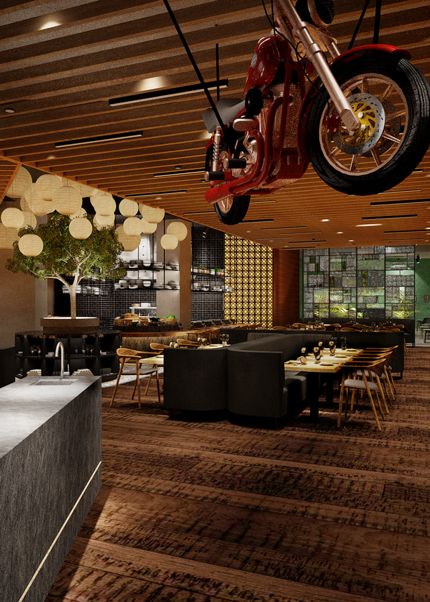 Upscale Asian restaurant concept