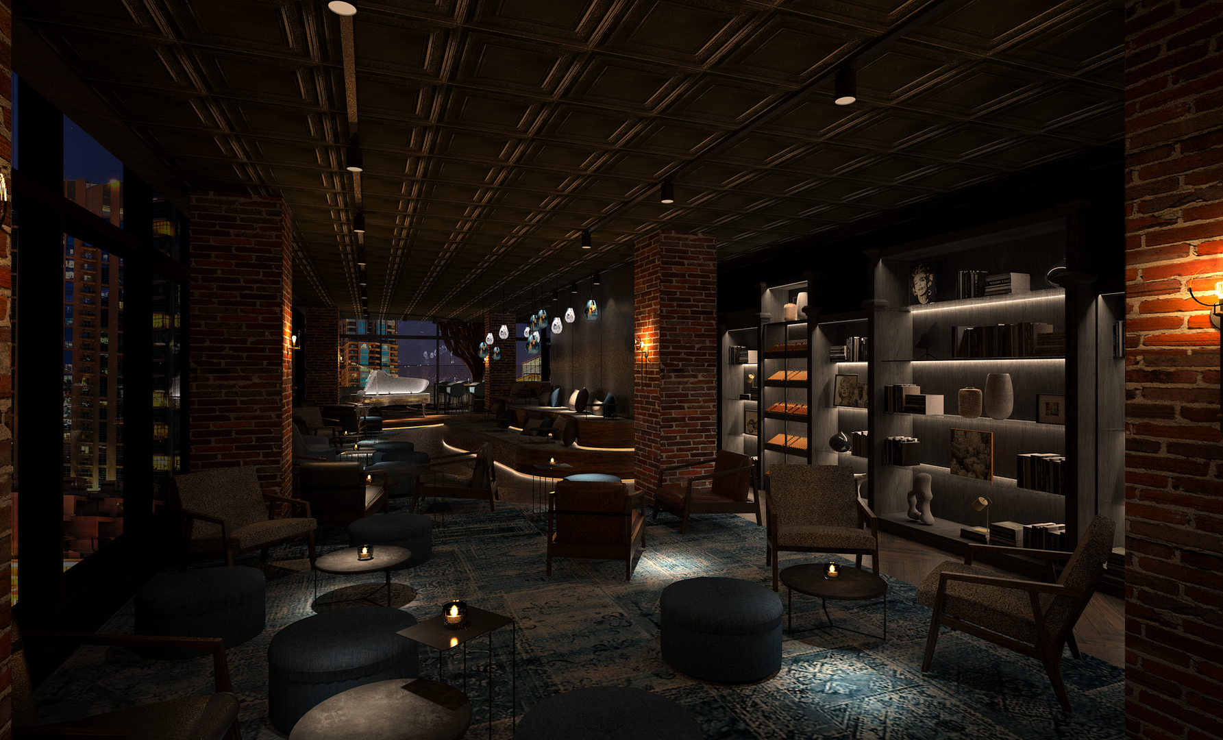 Connors - New York loft inspired apartment restaurant and bar