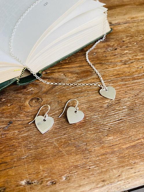 Heart Necklace & Earrings