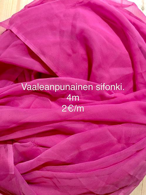 Vaaleanpunainen sifonki