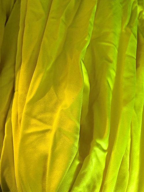 Kiiltävä neonkeltainen lycra