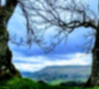 Looking from Pendragon Castle to Wild Boar Fell