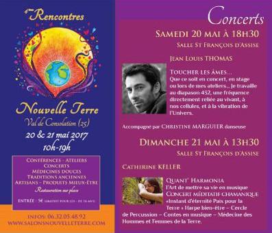 Concert méditatif chamanique au festival Salon Nouvelle Terre au Val-de-Consolation