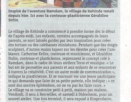 """Terre & Musique """"La village de Kehinde"""" au mois de la parentalité"""