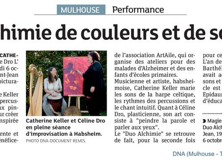 """Performance musicale et picturale """"Duo alchimie, magie des sons et des couleurs"""" avec Céli"""