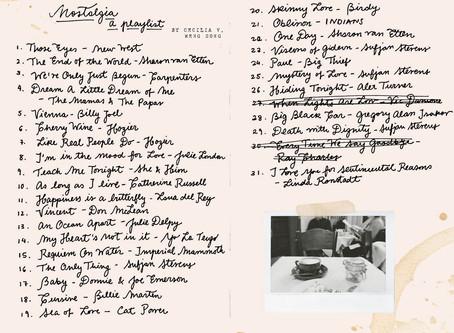 Nostalgia: a playlist   Cecilia V. Weng Song