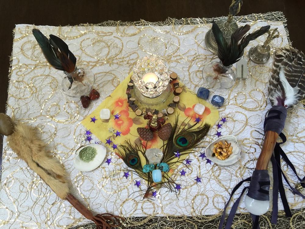 Ceremony Altar - photo: Hegel Healing
