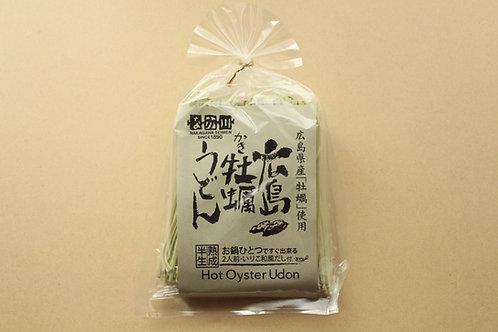 温)広島県産牡蠣うどん【2人前・いりこ和風だし付き】