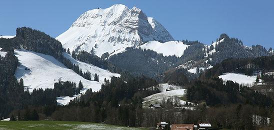 Vol biplace en parapente en Gruyère charmey moléson en hiver moléson ski Bulle