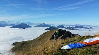 hike and fly en gruyère vol parapente et randonee charmey moléson