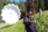 Moléson Charmey hike and fly parachute de secours sur tyrolienne parapente biplace suisse romande