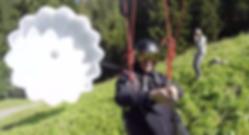 tyrolienne secours parachute parapente Gruyère suisse Moléson Charmey Guide