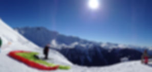 Vol biplace en parapente en Gruyère charmey moléson en hiver a ski Charmey