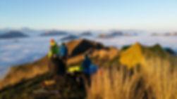 Gruyère Moléson Charmey hike and fly Guides de montagne Bivouac et vol en parpantente biplace en gruyère