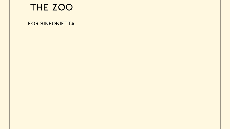 The Zoo - Arthur Sullivan